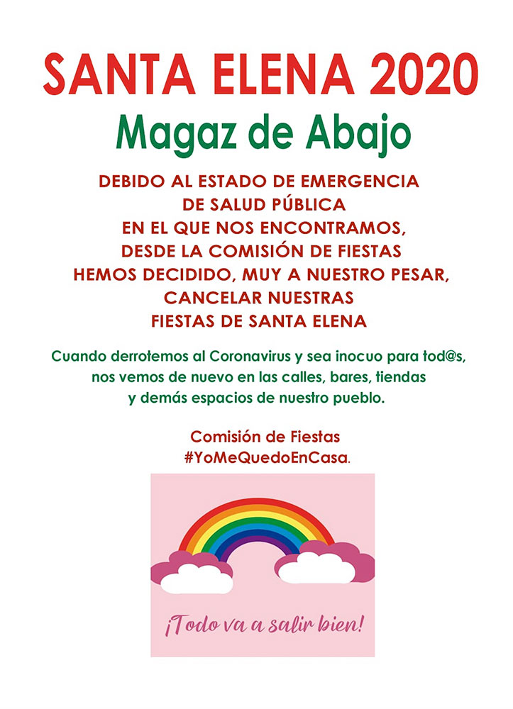 Magaz de Abajo y La Válgoma, anuncian la cancelación de sus fiestas patronales 2