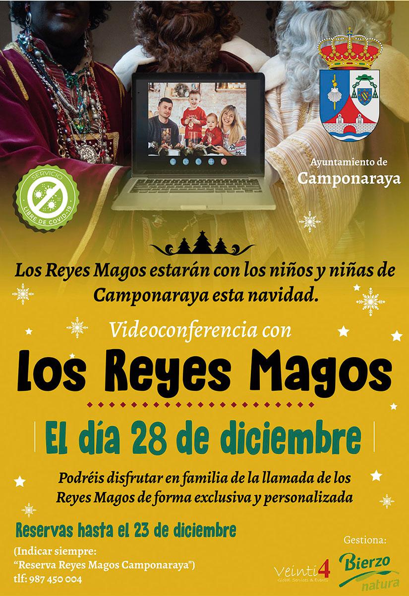 Videoconferencia con los Reyes Magos en Camponaraya 2